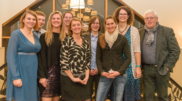 IBLA Team: From left to right: Dr. Hanna Heidt, Jemp Schweigen, Dr. Stéphanie Zimmer; Gilles Altmann, Sonja Kanthak, Laura Leimbrock, Julie Mousel, Evelyne Stoll, Rudolf Leifert